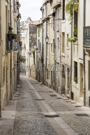 picturesque alley in montpellier southern france