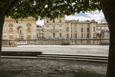 historic buildings in montpellier southern france