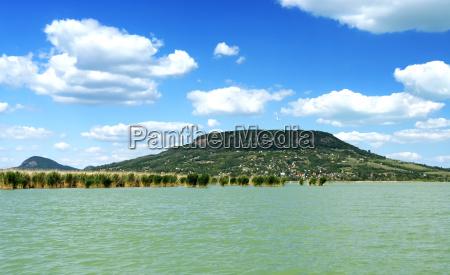 landscape of lake balaton hungary