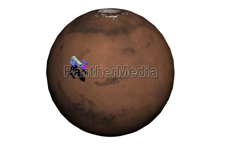 mars orbiter orbits planets isolated