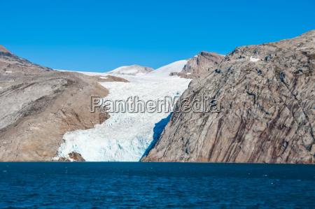 glacier tongue on greenland