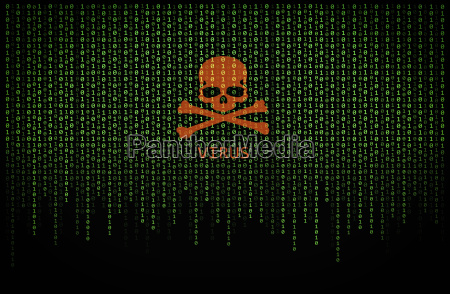 red skull virus on binary computer