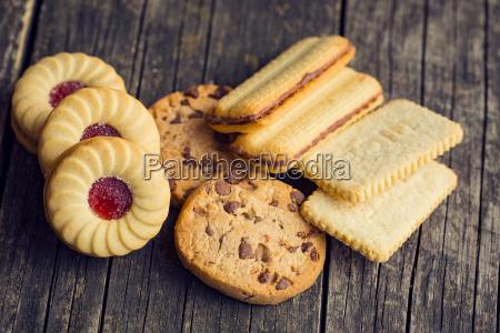 various sweet biscuits