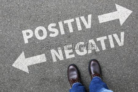 negative positive good bad business concept