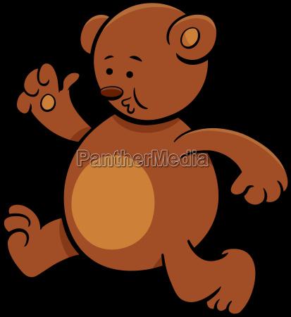 running bear cartoon character