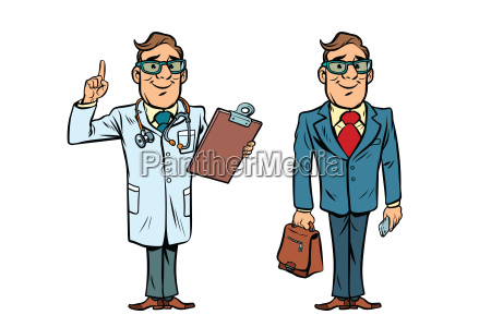 happy doctor with glasses and a
