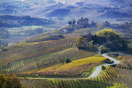 road between the hills of langa