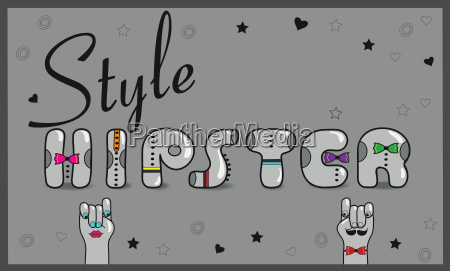 hipster style vintage card