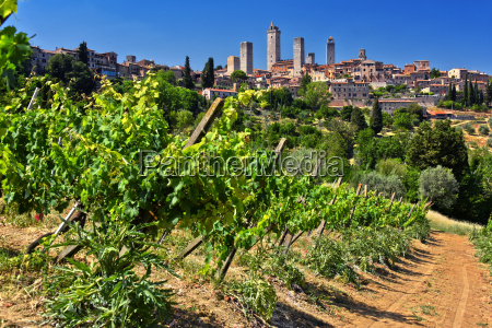 panoramic view of san gimignano in