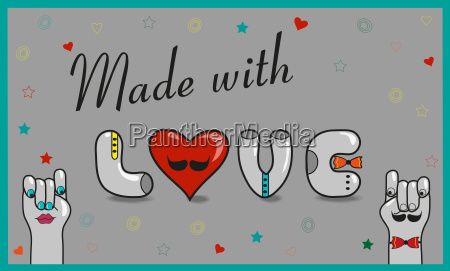made with love vintage card