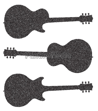 three guitar silhouettes