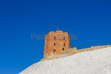 view on gediminas tower on the