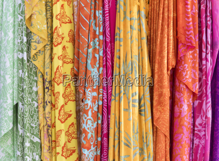 various colorful fabrics