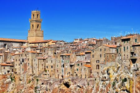 city of pitigliano in the province