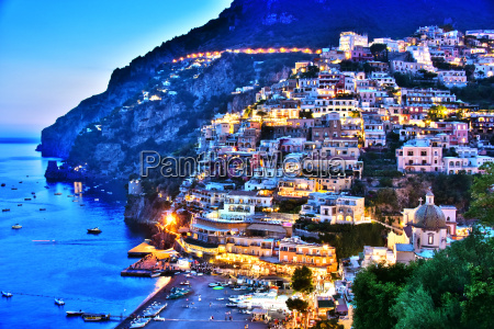 city of positano on amalfi coast