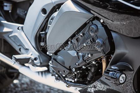 motorcycle luxury items close up headlights