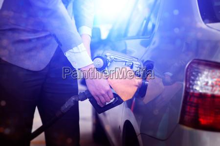 pumping car petrol