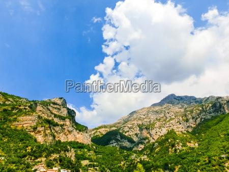 scenic view of positano beautiful mediterranean