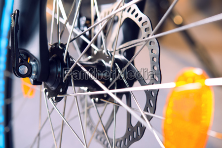 close up of bicycle disk