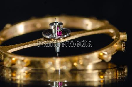 watch parts ruby impulse roller jewel