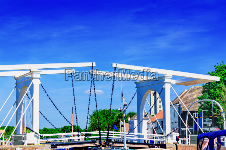double drawbridge in holland ziereksee