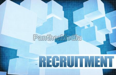 recruitment on futuristic abstract