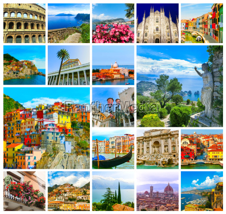 collage, from, photos, of, italy, on - 22628245