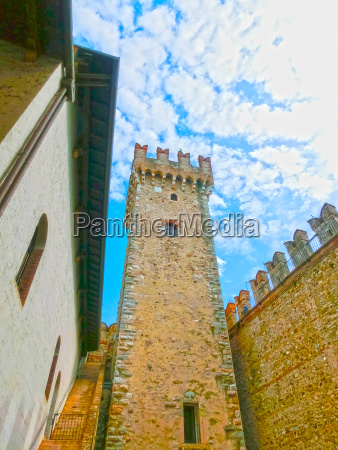 scaliger castle in sirmione on lake
