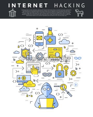 digital, vector, blue, internet, security, data - 22634535