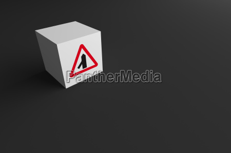 3d rendering of road sign on