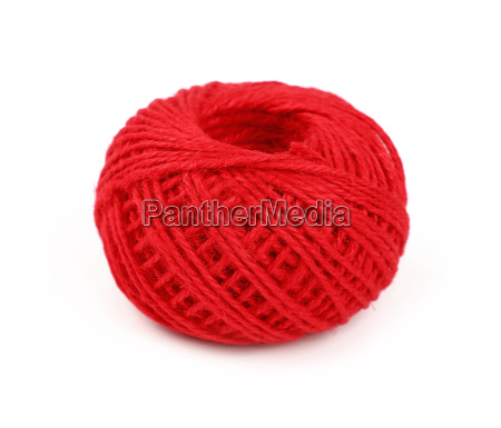 one red twine jute coil bobbin