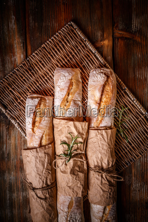 traditional white baguettes