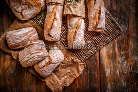 whole breads and baguettes