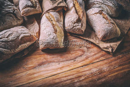 lots of different bread sorts