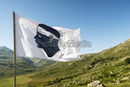 corsican flag on a sunny day