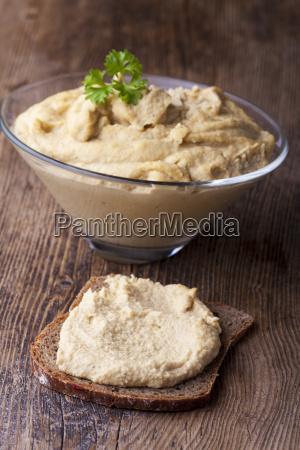 bowl of homemade humus