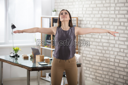 businesswoman, stretching - 22643605