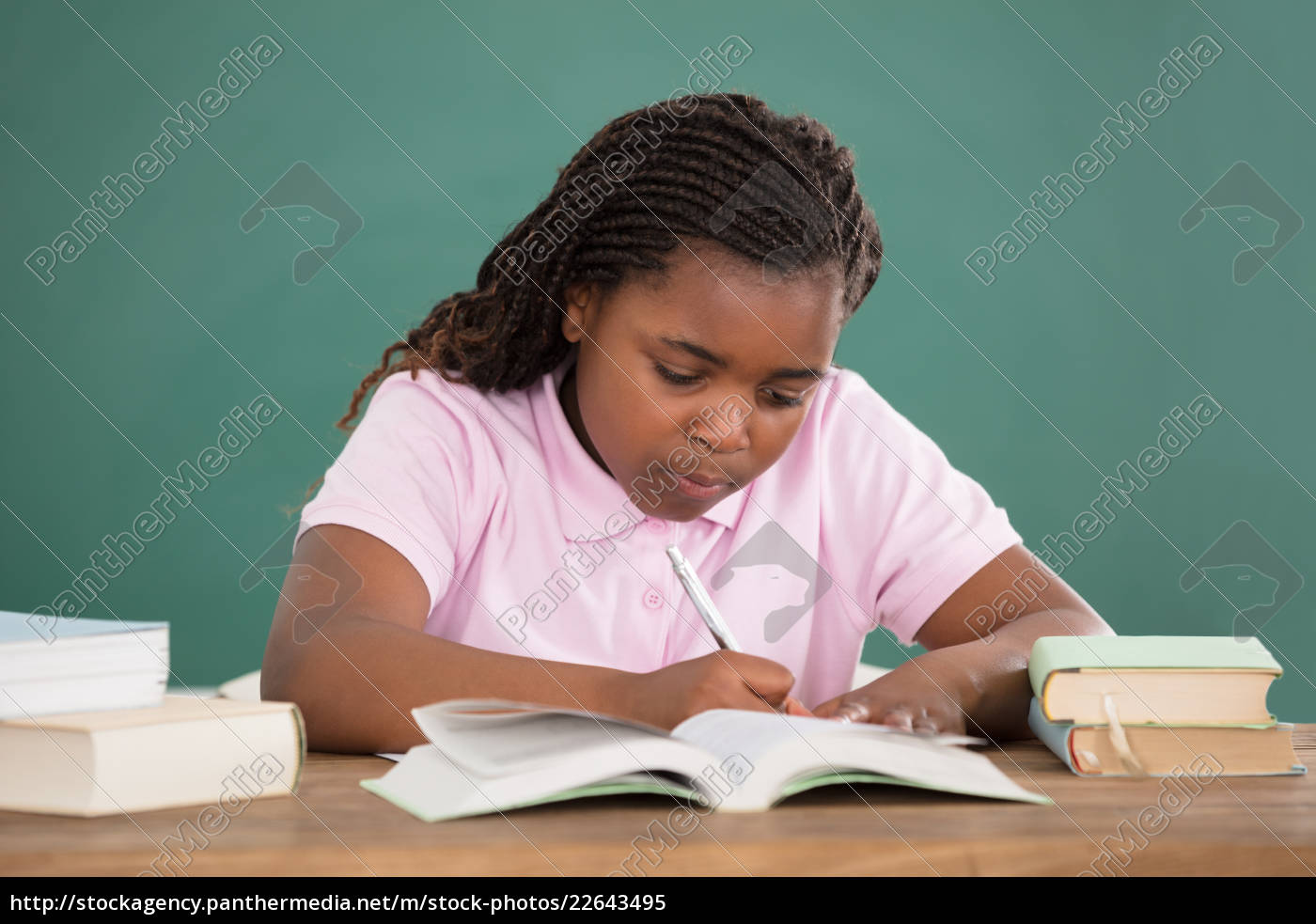 girl, studying, in, class - 22643495