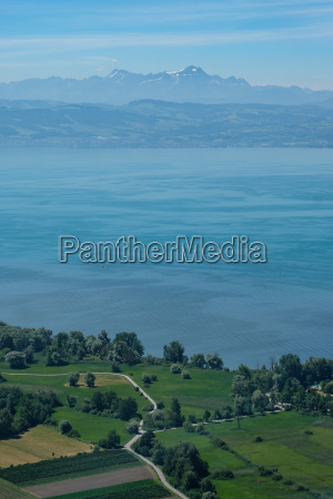 aerial view of lake constance with
