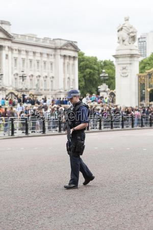 metropolitan armed police officer during ceremonial