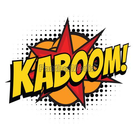 kaboom comic word