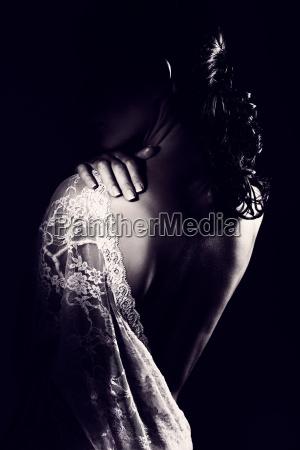 gentle, woman, wearing, lace, dress - 22646145