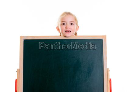 blond, girl, with, blackboard - 22648647