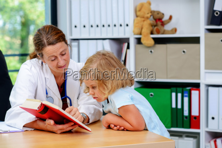 pediatrician, in, white, lab, coat, and - 22648611