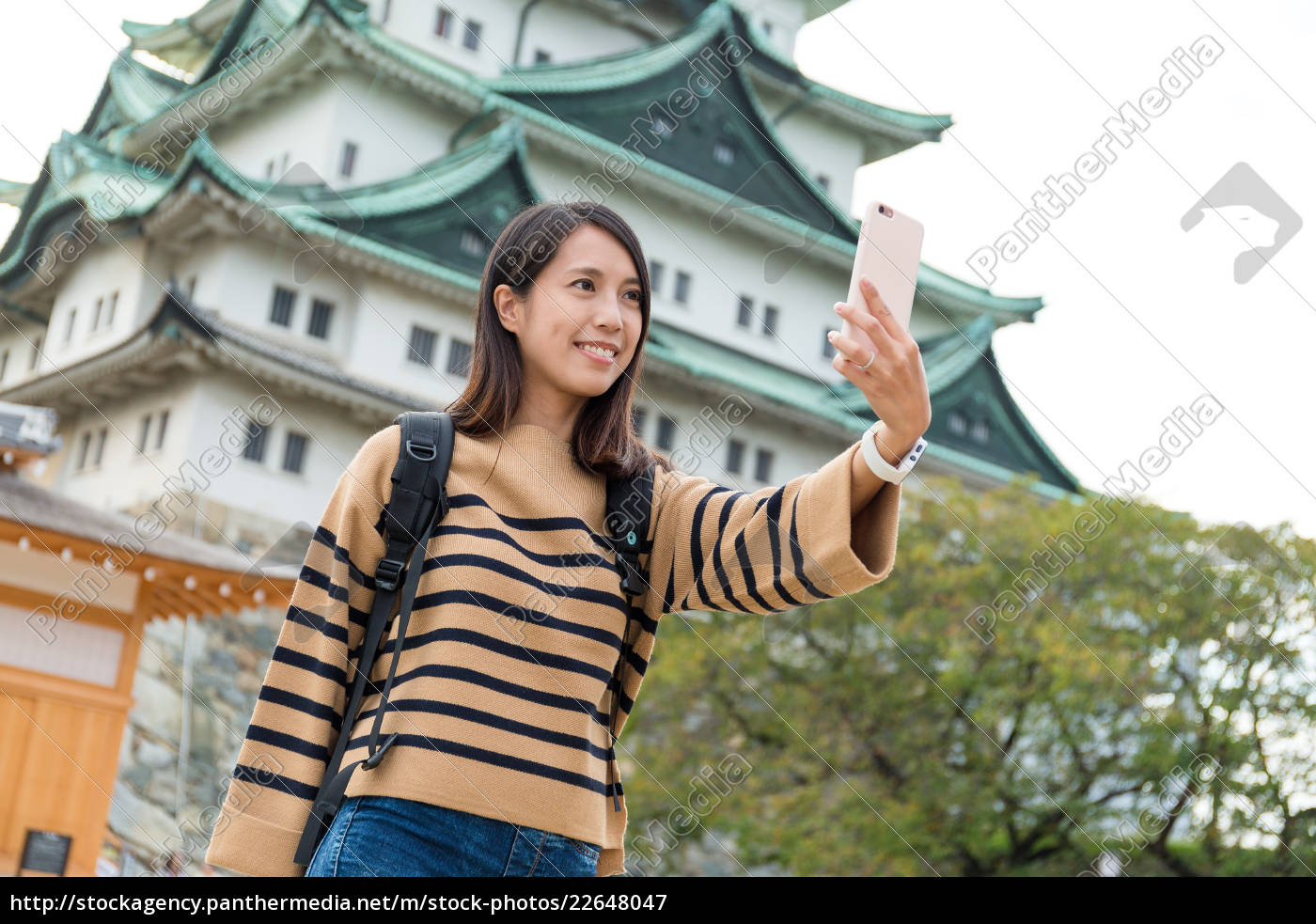 woman, travel, in, nagoya, castle, and - 22648047