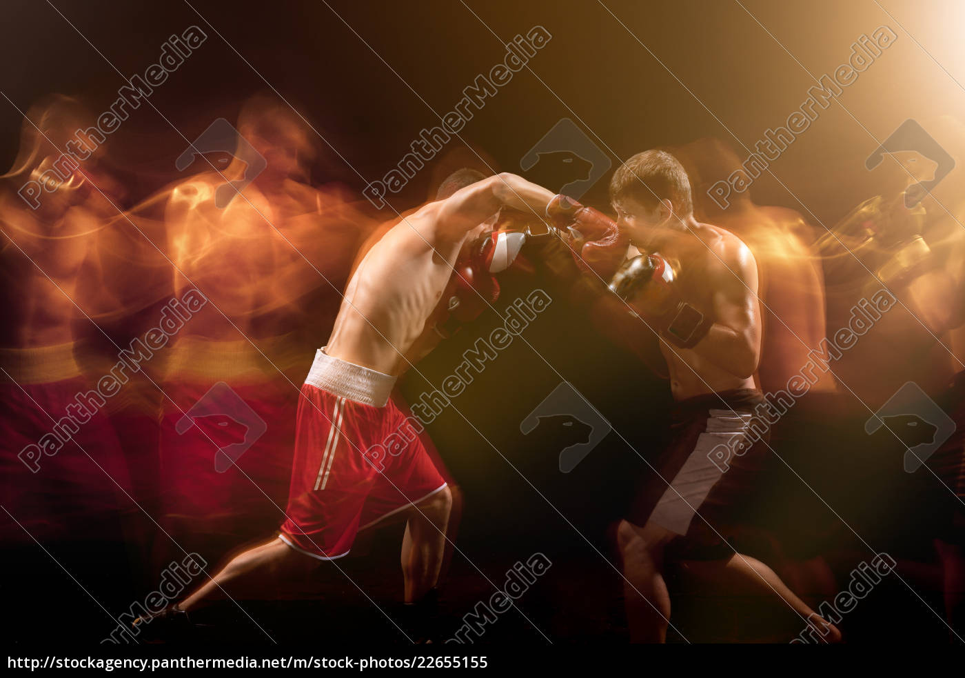 the, two, male, boxers, boxing, in - 22655155
