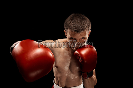 male, boxer, boxing, with, dramatic, edgy - 22657785