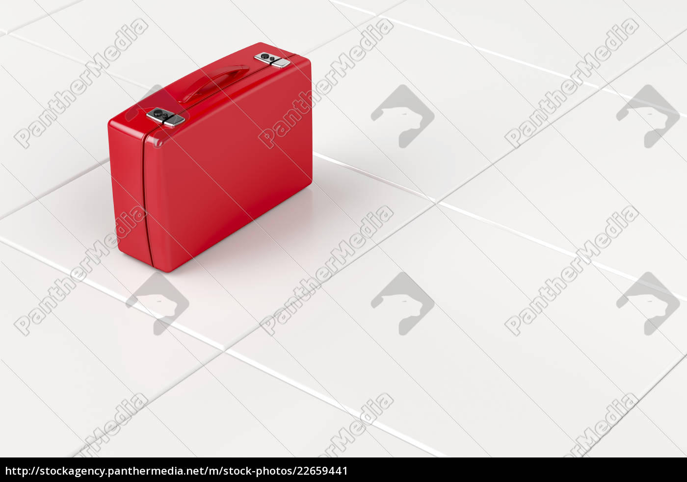 red, suitcase - 22659441