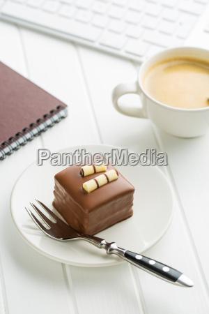 break for coffee and sweet dessert