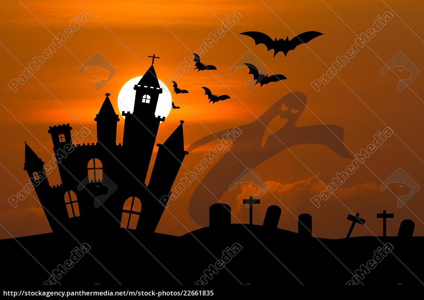 castle, in, halloween, night - 22661835